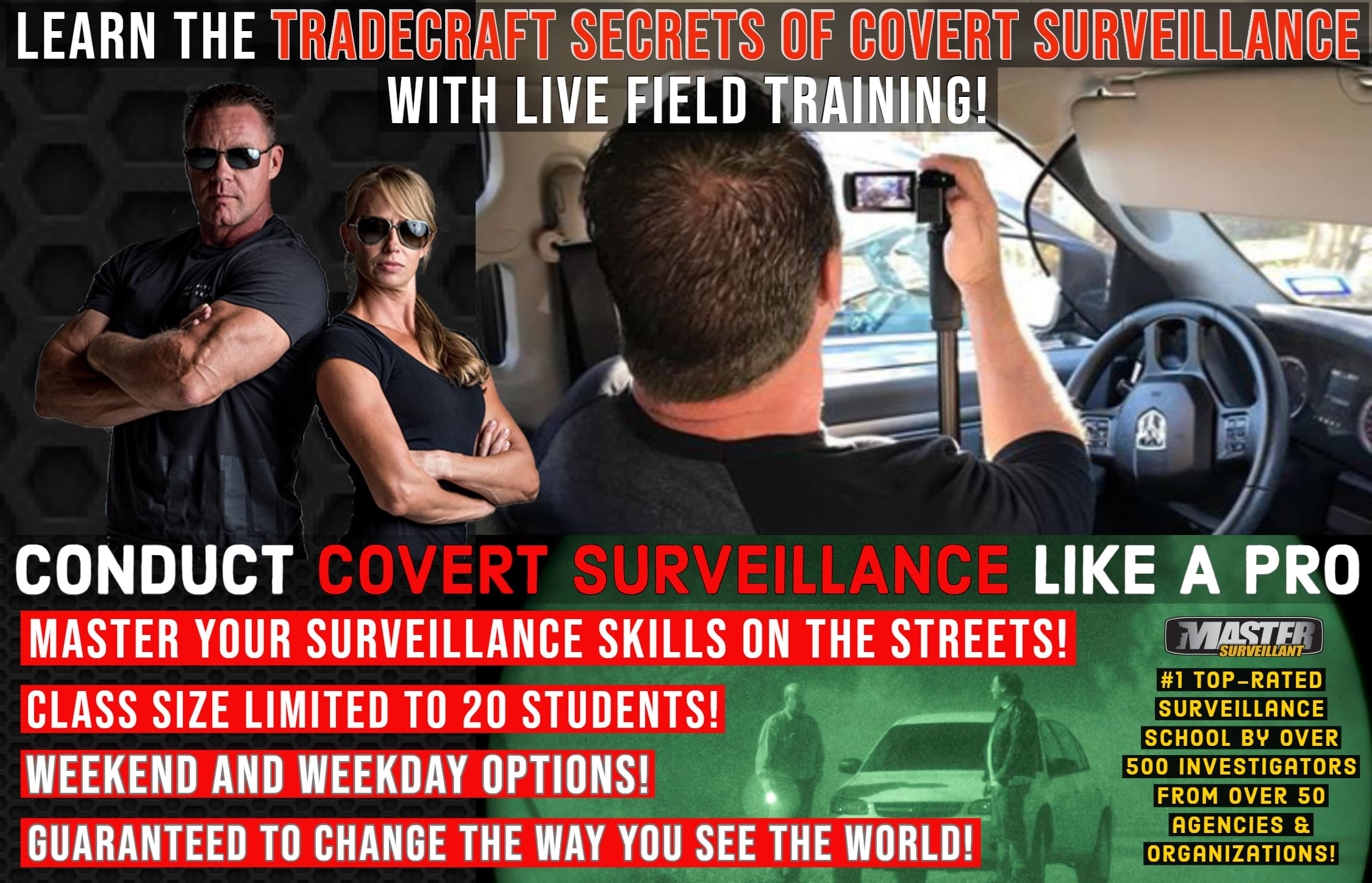 Tradecraft Secrets of Covert Surveillance Operators Course